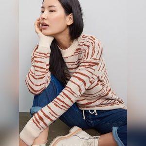Anthropologie   En Elly Zebra Stripe Tunic Sweater